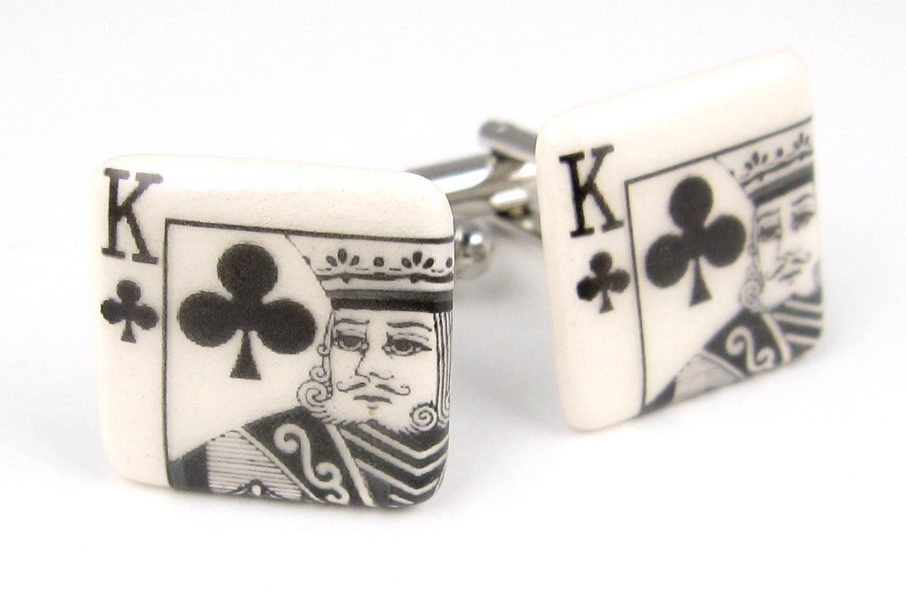 King of clubs cufflinks