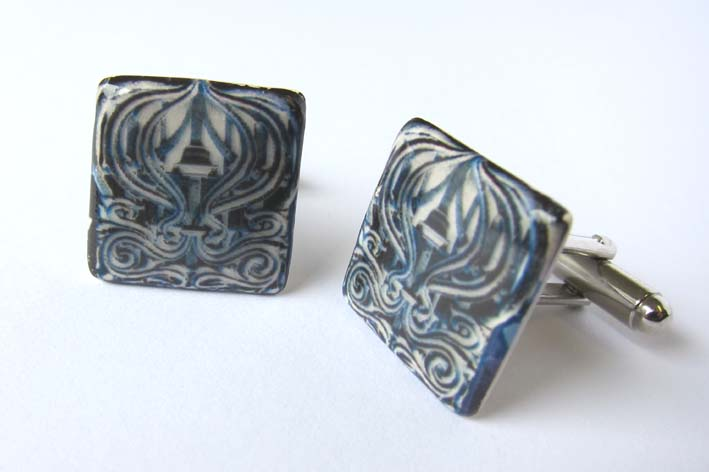 View Manchester Sir John Rylands Library cufflinks