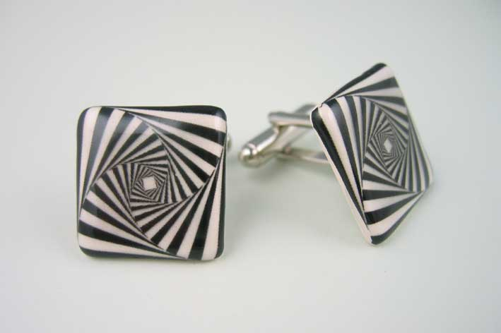 View Square Swirl cufflinks