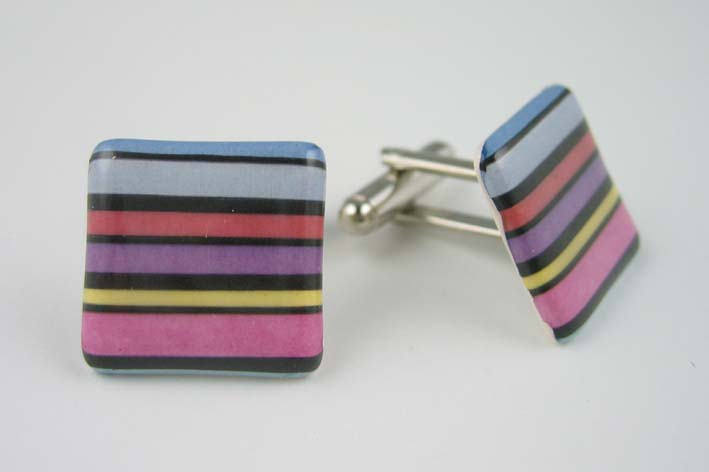 Stripey cufflinks