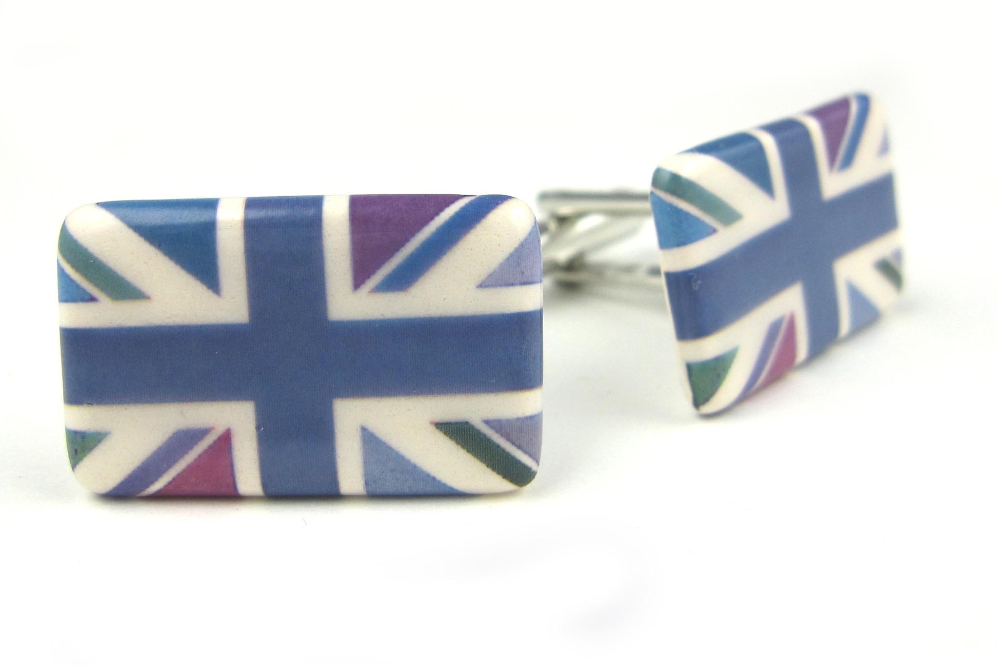 Union Jack Cufflinks (blue multi-colour)