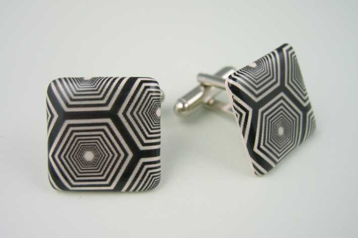 View Hexagons cufflinks